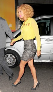 Keri Hilson Gets Bright and Striped