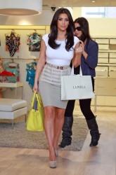 Kim Kardashian's Neon and Neutral Look