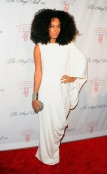 Look of the Day: Solange in all white Alessandra Rich Dress