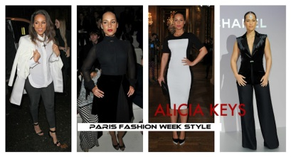 Celebrity Style: Alicia Keys' Paris Fashion Week Style