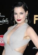 Celebrity Style: Dita Von Teese at Christian Louboutin's Feu Premier