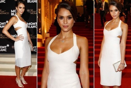 Celebrity Style: Jessica Alba in Sexy White Cutout Dress- Look for Less!