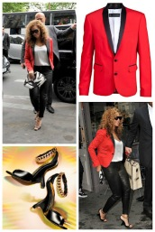 Celebrity Style: Beyonce is Smoking Hot in DSquared Blazer and Leather Skinnies