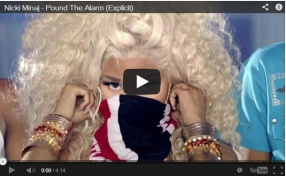 "Nicki Minaj ""Pound The Alarm"" Video"