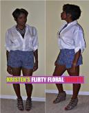 MYLM Style: Kristen's Flirty Floral Shorts