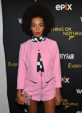 "Solange Pretty in Pink at Screening of ""Everything or Nothing"""