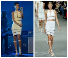 Rihanna in Alexander Wang for X Factor UK Performance