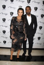 Kim Kardashian's Racey Lacy First Maternity Outfit