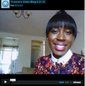YVONNE'S VIDEO BLOG6.21.13