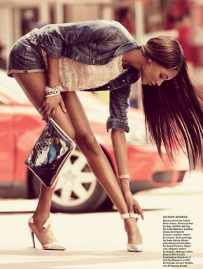 Model Jourdan Dunn is all LEGS for July's Allure Magazine